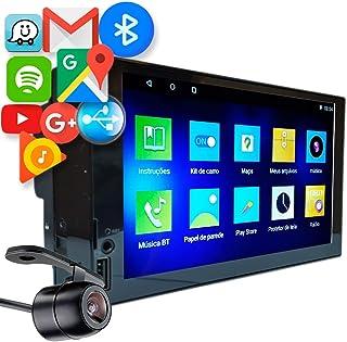 Central Multimidia 7 Android 10 H-Tech HT-6120 Espelhamento