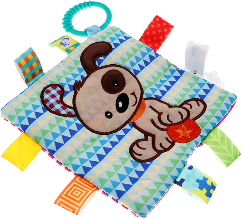 MagiDeal Baby Comforter Teething Blanket Soft Soothing Toddler Security Blanket Dog As Described