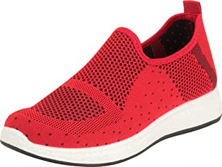 Cambridge Select Women's Lightweight Knit Slip-On Casual Sport Fashion Sneaker