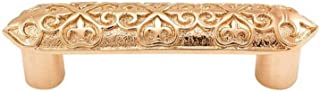 Vicenza Designs P1300 Fleur de Lis 3-Inch Pull, Polished Gold