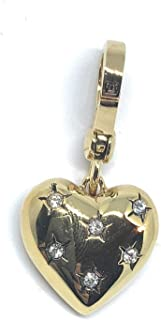 Juicy Couture - Golden Puffy Heart with Rhinestones Charm