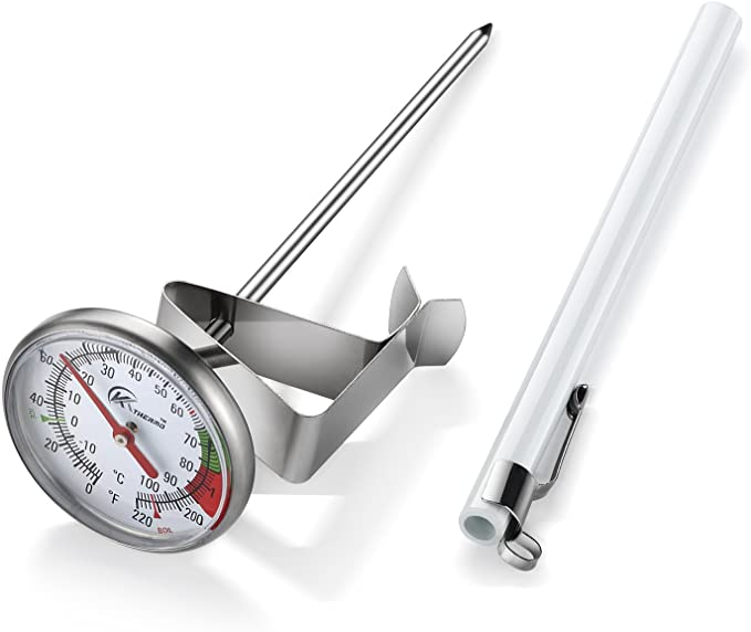 KT THERMO Instant Read Dial Thermometer - Best for Milk Frothing and Coffee