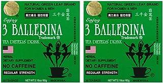 Diet Tea for Men and Women 30 Tea Bags, Three Ballerina(Pack of 2)