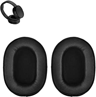 Crusher Earpads Replacement Ear Pads Cushions Muffs Repair Parts Compatible with Skullcandy C/Hesh 3 Bluetooth Wireless Over-Ear Headphones. (Black)