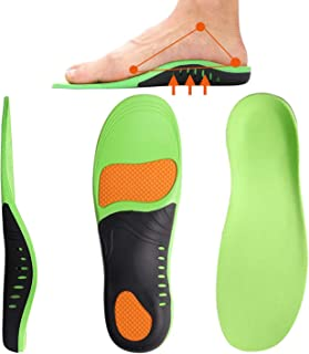 FLSLHS Shoes Insoles for Men and Women - Scientifically Proven Design High Arch Support Orthotic Shoe Inserts Plantar Fasciitis Inserts Super Support Shoe Inserts Men Women (L)