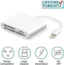 SD Card Reader for iPhone/iPad, VELLEE CF/TF/SD Memory Card Reader Adapter, Camera Kit,..