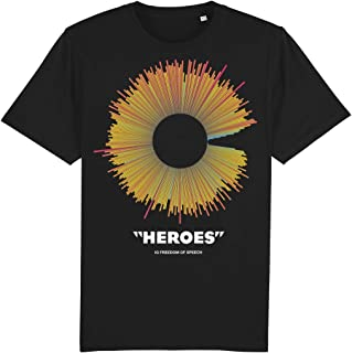 IQ Freedom Of Speech Heroes Colour Soundwave 100% Organic Cotton T-Shirt