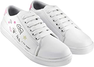 HASTEN Women's/Ladies/Female/Girls Lightweight Comfortable, Casual wear Lace-Up Shoes Sneakers for Women