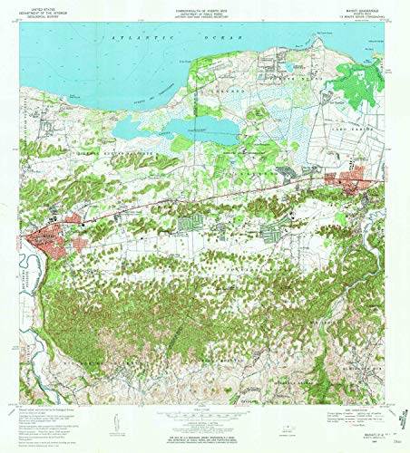 YellowMaps Manati PR topo map, 1:20000 Scale, 7.5 X 7.5 Minute, Historical, 1969, Updated 1972, 32.2 x 29.2 in - Paper