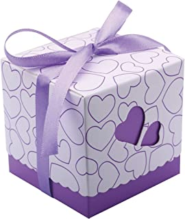 Driew Candy Boxes, Wedding Favors Boxes Treat Boxes Party Favors 3x3x3 Purple