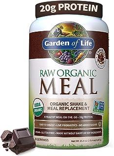 Garden of Life Meal Replacement - Organic Raw Plant Based Protein Powder, Chocolate, Vegan, Gluten-Free, 35.9oz (2lb 4oz/...