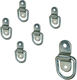 Stainless Steel D-ring Tiedowns 3,500 lb. Capacity Tie Down Anchors - 6 pack