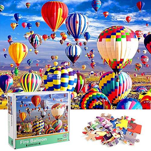Adult Puzzles, 1000 Pcs Puzzles Classici, Puzzle Mongolfiere, Cartone puzzle, Puzzle Fai Da Te Paesaggi, Puzzle Colorato, Puzzle Intelligence, Creative Art Puzzle Gioco per Famiglie