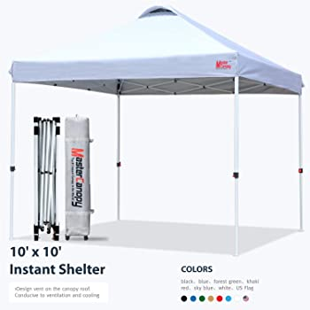 Amazon Com Abccanopy Canopy Tent Pop Up Canopy Outdoor Canopies Super Comapct Canopy Portable Tent Popup Beach Canopy Shade Canopy Tent With Wheeled Carry Bag Bonus 4xweight Bags 4xropes 4xstakes Black Garden