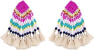 Personalized ear studs Orecchini Piercing dell'orecchio per le donne Ragazze e bohémien Donne perline perline nappa penzol...