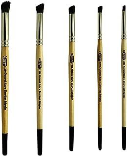 ZEM Brush Natural Hair Deerfoot Stippler Texture Brush Set Sizes 2-4-6-8-10