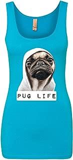 Tee Hunt Pug Life Funny Tank Top Dope Thug Life Dog Parody Hipster Top