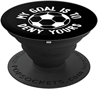 Cute Soccer Goalie & Defender Soccer Ball PopSockets Grip and Stand for Phones and Tablets