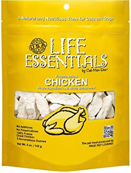 LIFE ESSENTIALS By Cat-Man-Doo All Natural Freeze Dried Chicken For Dogs & Cats - No Fillers, Preservatives, or Addit...