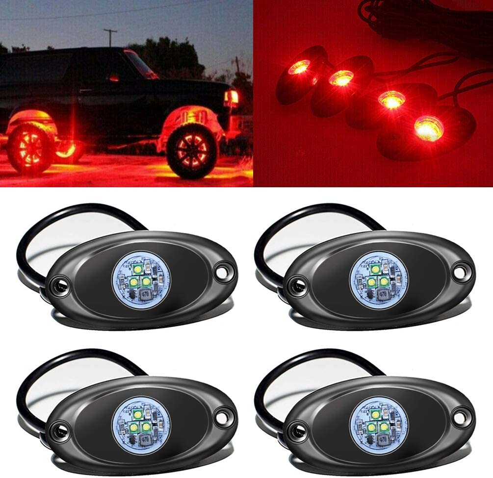 4 Pods LED unisex Rock Light for Jeep Boat Un Large discharge sale Offroad SUV Car Truck ATV
