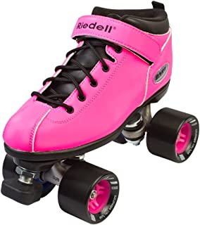Riedell Dart Quad Roller Derby Speed Skates, Pink, Mens 6 / Ladies 7