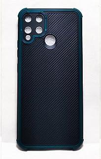 Matte Case Soft Realme C25 Fiber Carbon Soft Simple Silicone Era Protection Cover Anti-shock - Olive