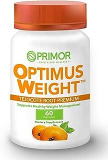 Optimus Weight - Tejocote Root Premium (Raiz De Tejocote) - Natural and Healthy Weight Loss Supplements - 60 Capsules - 1-Pack