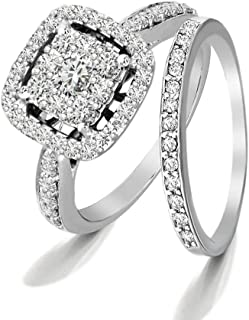 Lab Grown Diamond Engagement Rings For Women 1Carat IGI Certified SI-GH 14KT Diamond Rings Bridal Designer Diamond Ring (Women)