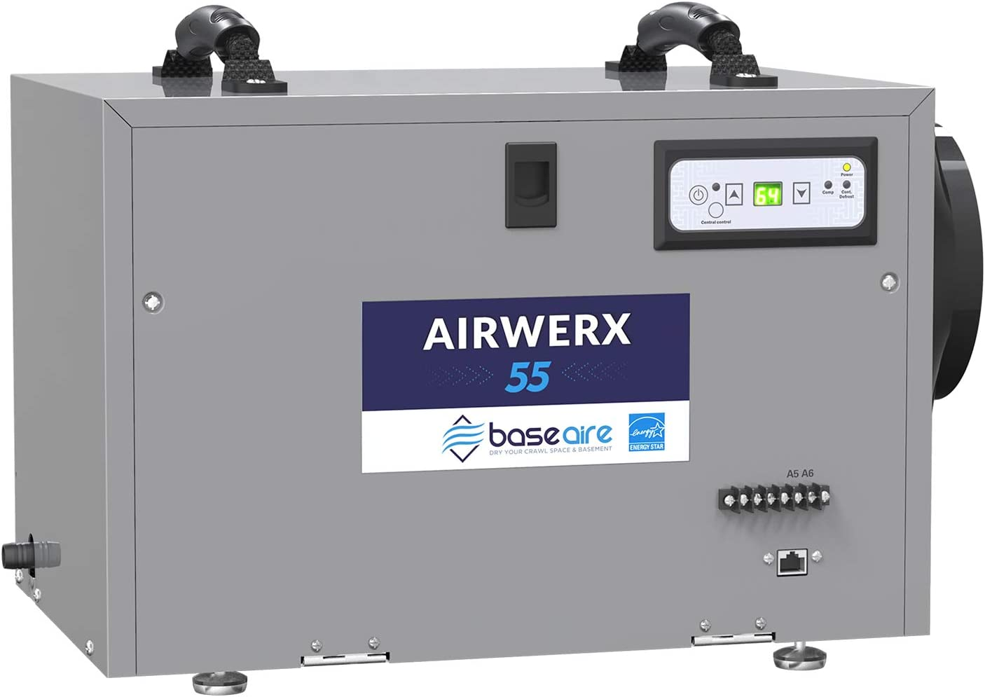 Regular store BaseAire AirWerx55 Free shipping anywhere in the nation Energy Star Dehumidifier for Base Crawl Space