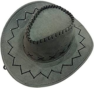 Sohapy Western Cowboy Hat with Adjustable Cord, Fancy Dress Costumes Accessory Wide Brim Unisex Hats Great for Role Play