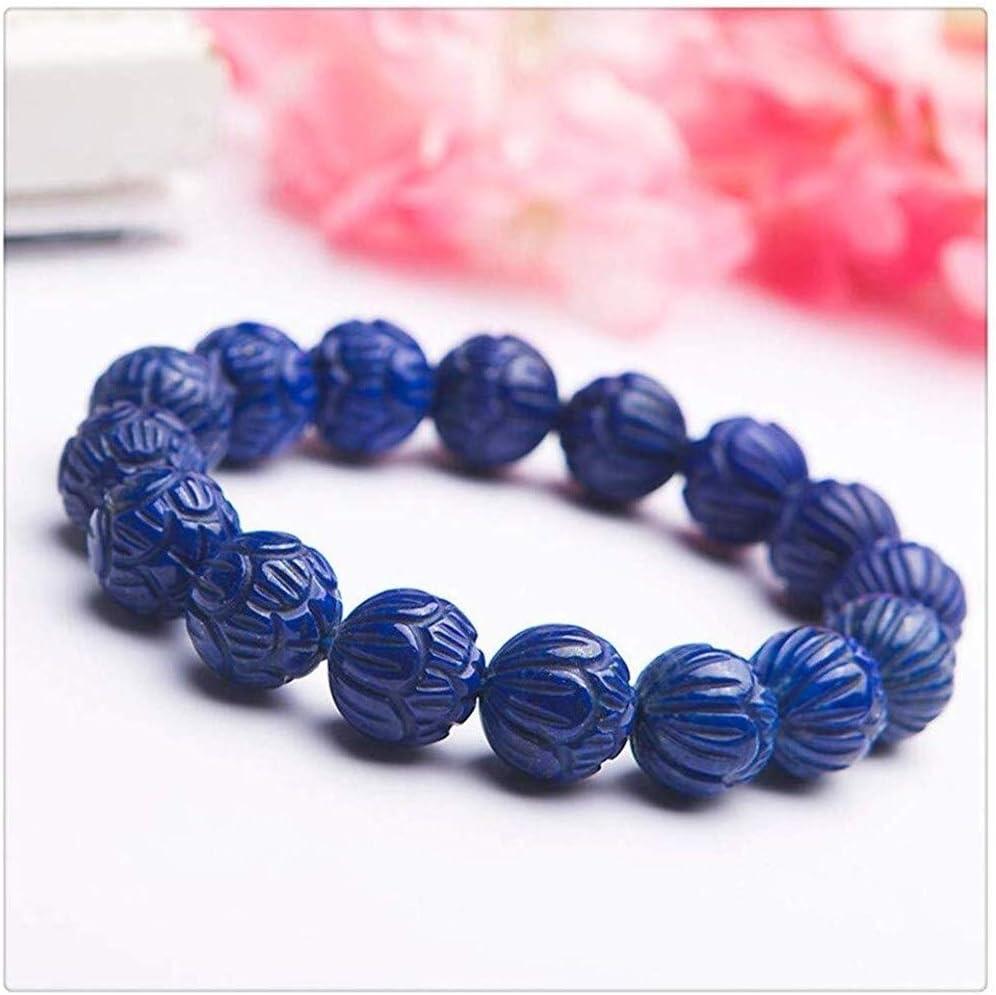 Safety and trust Xuyang Pure Natural Tulsa Mall Navy Blue Lazuli Gemstone Bracele Lapis Bead