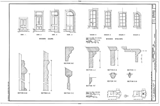Historic Pictoric Blueprint Diagram HABS ARK,48-CLAR,1- (Sheet 7 of 8) - Old Monroe County Jail, Main & Kendall Streets, Clarendon, Monroe County, AR 12in x 08in