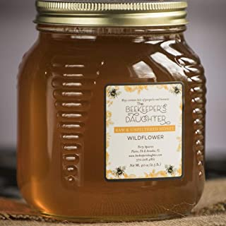 Raw Wildflower Honey by the Beekeeper's Daughter - 2.5 lb Jar (2.5 pound) - Pack of 3