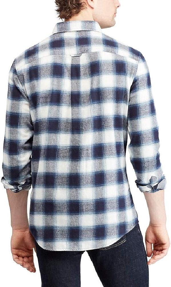 Chaps Mens Big & Tall Regular-Fit Performance Flannel Button-Down Shirt