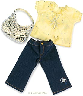 "Starlight Blouse, Jeans and Sequins Bag - Fits 18"" American Girl Dolls"