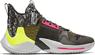 Jordan Why Not Zer0.2 Basketball Shoes (9.5, Grey/Pink/Green)