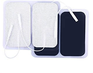 TENS Unit Pads, 40PCS, 2x3.5 Inches, TENS Electrodes Pads Replacement, Reusable Rectangular Electrodes Patches for Electrotherapy EMS Massage