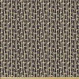 ABAKUHAUS Bambus Stoff als Meterware, Simplistic Asian
