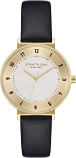 Kenneth Cole Women's SILVER Dial Genuine Leather Band Watch - KC50077002