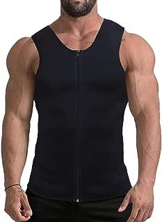 Mpeter Men Waist Trainer, Slimming Body Shaper Sweat Vest, Sauna Suit Tank Top Shirt for Weight Loss