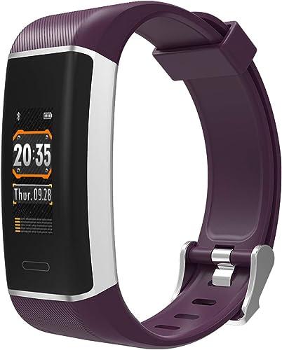 YSCYLY Fitness Trackers bleutooth Smart Bracelet GPS étanche Fréquence Cardiaque Pression Artérielle Moniteur De Sommeil Moniteur Information Météo pour iOS Android Phone