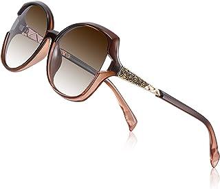 PORPEE Occhiali da Sole da Donna Polarizzati, Occhiali da Sole Moda Scatola Grande con Tecnologia Diamond Embedding - Lent...