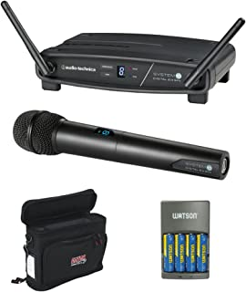 Audio-Technica ATW-1102 System 10 Digital Wireless Handheld Microphone Set with GM-1W Mobile Pack & 4-Hour Rapid Charger Kit