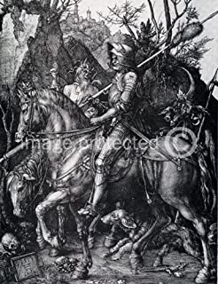 American Gift Services Albrecht Durer Knight Death and The Devil Giclee' Fine Art Print 24x36