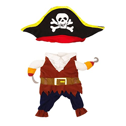 dccf869522c36 Topsung Cool Caribbean Pirate Pet Halloween Costume for Small to Medium  Dogs/Cats
