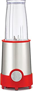 BELLA (13615) Personal Size Rocket Blender, 12 Piece Set, Stainless Steel & Red