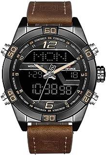2019 naviforce豪華ブランド腕時計メンズ防水スポーツウォッチメンズデュアルディスプレイデジタルレザーミリタリー手首ウォッチ