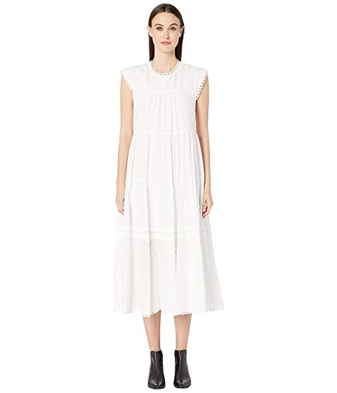 See by Chloe Textured Georgette Flutter Sleeve Dress