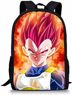 CuMagical Dragon Ball Middle School Backpack for Elementary School Cartoon Kids Book Bag