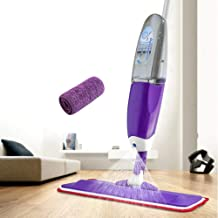 Mop Spray Microfiber Cloth Head Metal Handle Rotating Dust Collector Household Floor Cleaning Tool